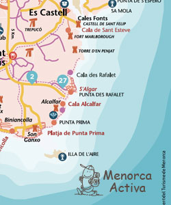 Menorca Activa map download